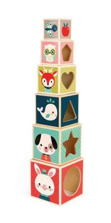 Piramida wieża drewniana Baby Forest, Janod