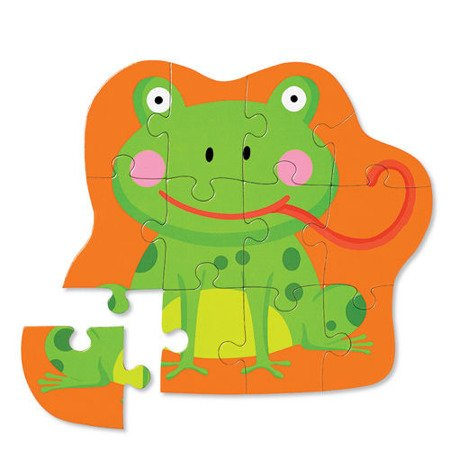 Puzzle 12 el., Głodna żaba, Crocodile Creek