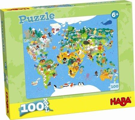 Puzzle Mapa Świata (100 el.)