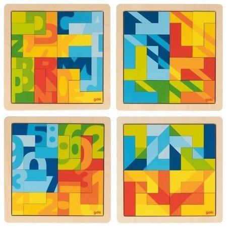 Puzzle do układania w kształcie literek L