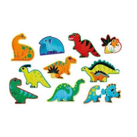 Puzzle w tubie 20 elem. Dinozaury
