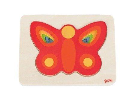 Puzzle warstwowe motylek, GOKI-57486