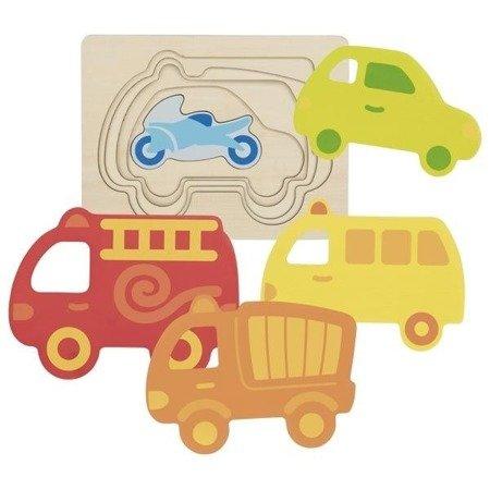 Puzzle warstwowe – pojazdy