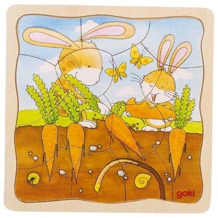 Puzzle warstwowe - wegetacja roślin