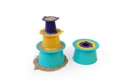 QUUT Zestaw 3 foremek do piasku Wieża Alto Green + Purple + Yellow