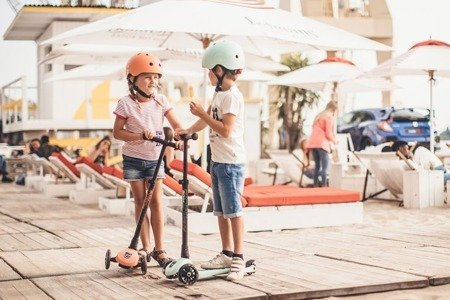SCOOTANDRIDE Kask S-M dla dzieci 3+ Peach kolekcja Icecream 2020