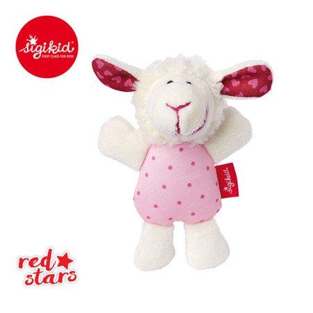 SIGIKID Miękka mini – grzechotka Owieczka Red Stars