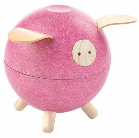 Skarbonka świnka, kolor różowy | Plan Toys®