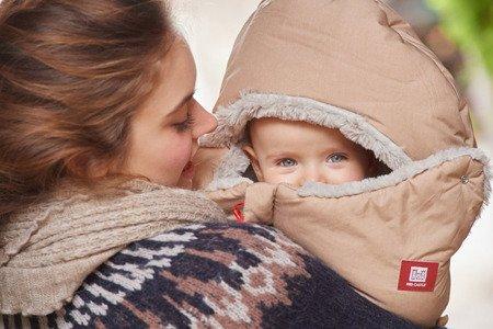 Śpiwór zimowy do wózka i fotelika Babynest 0-6m Heather Beige, Red Castle