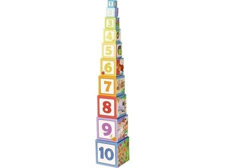 Wieża kostek układanka Roszpunka i zwierzątka Haba