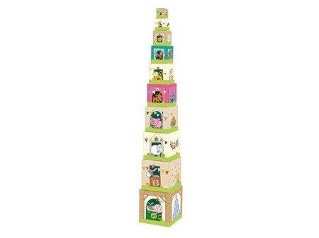 Wieża kostek układanka Zwierzeta Na Farmie Haba