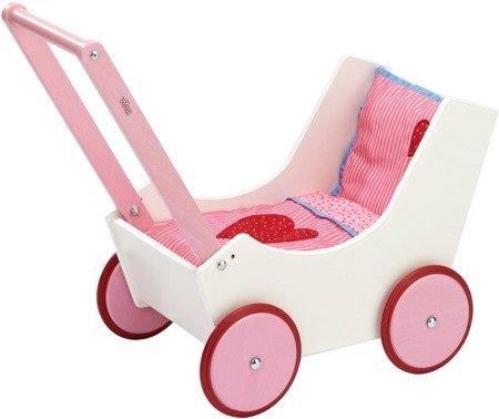 Wózek dla lalek - Serca