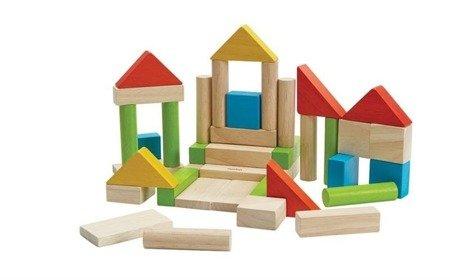 Zestaw 40 kolorowych klocków, Plan Toys