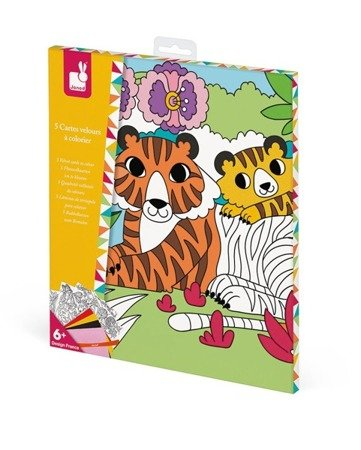 Zestaw kreatywny Aksamitne karty Tropikalna dżungla, Janod